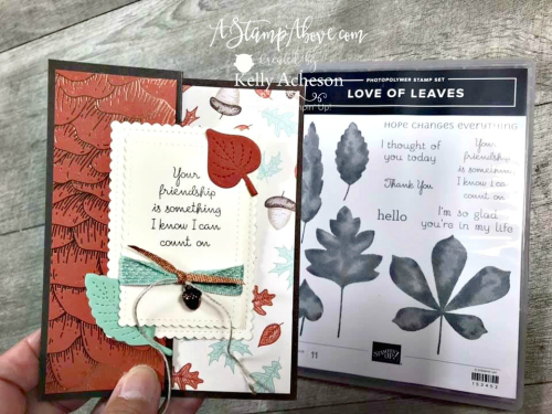 LOVE OF LEAVES NEW kit class - VIDEO TUTORIAL - Click for details - ️SHOP ️ - ORDER STAMPIN' UP! PRODUCTS ON-LINE. Purchase the $99 Starter Kit & enjoy a 20% discount! Tons of paper crafting ideas & FREE Online Classes. www.AStampAbove.com