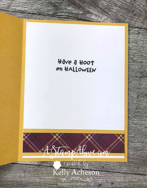 Learn how to make this cute card with the Have a Hoot Bundle from Stampin' Up! VIDEO TUTORIAL - Click for details - ️SHOP ️ - ORDER STAMPIN' UP! PRODUCTS ON-LINE. Purchase the $99 Starter Kit & enjoy a 20% discount! Tons of paper crafting ideas & FREE Online Classes. www.AStampAbove.com