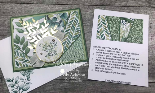Learn how to make this gorgeous card using the STARBURST technique! VIDEO TUTORIAL - Click for details - ️SHOP ️ - ORDER STAMPIN' UP! PRODUCTS ON-LINE. Purchase the $99 Starter Kit & enjoy a 20% discount! Tons of paper crafting ideas & FREE Online Classes. www.AStampAbove.com