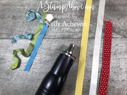 Learn some great ribbon tips - VIDEO TUTORIAL - Click for details - ️SHOP ️ - ORDER STAMPIN' UP! PRODUCTS ON-LINE. Purchase the $99 Starter Kit & enjoy a 20% discount! Tons of paper crafting ideas & FREE Online Classes. www.AStampAbove.com