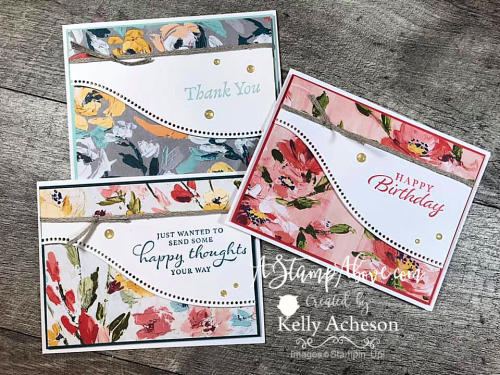 Fall in love with this layout and the Fine Arts Suite bundle by Stampin' Up! Click to watch video tutorial. www.AStampAbove.com
