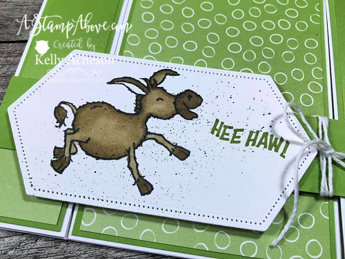 Darling Donkey & Oh So Ombre DSP FREE until 2/28!!! Learn how to make these fun fold cards - click for video tutorial! www.AStampAbove.com