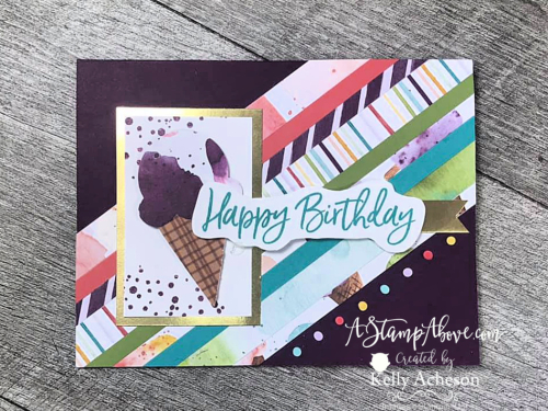 Sweet Ice Cream from Stampin' Up! - click for video tutorial. www.AStampAbove.com