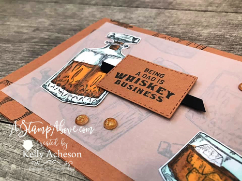 Learn how to make this vellum overly card with the Whiskey Business stamp set by Stampin' Up! www.AStampAbove.com
