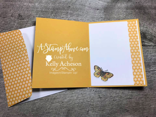 Get the dimensions for this classic layout - Butterfly Brilliance video tutorial. www.AStampAbove.com