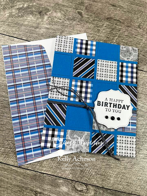 Make a fun INLAID technique card & tic tac toe card with the BEST PLAID DIES - retiring soon! Click for video tutorial. www. AStampAbove.com