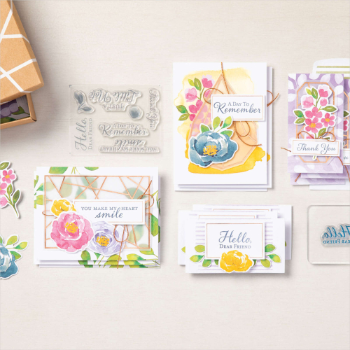 Learn all about the HELLO DEAR FRIEND CARD KIT by Stampin' Up! Click for Video tutorial. www.AStampAbove.com