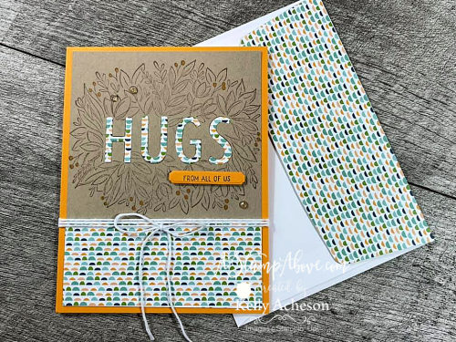 It's a Hug with a FOLD in the middle! Sending Hugs - NEW from Stampin' Up! Video tutorial - just click. www.AStampAbove.com
