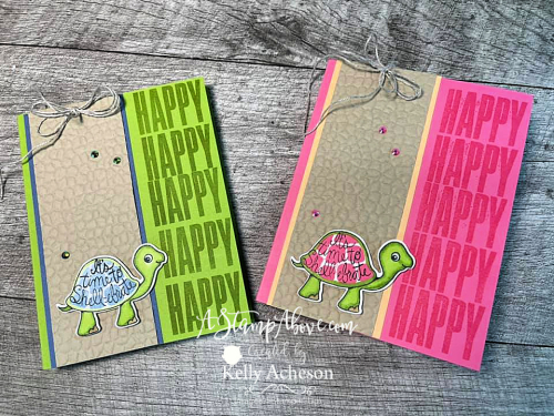 This fun fold will knock your socks off! Click for details - Turtle Friends. www.AStampAbove.com