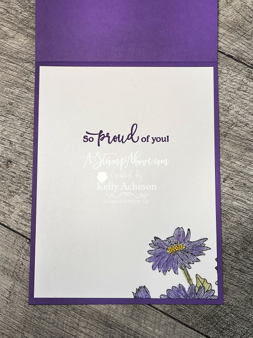 Click to see details for this Spotlight Technique card using DAISY GARDEN by Stampin' Up! www.AStampAbove.com