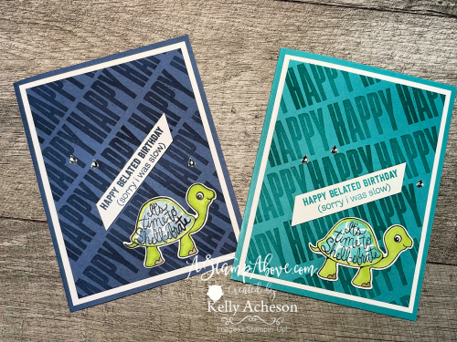 Learn how to make this adorable TURTLE FRIENDS card by Stampin' Up! www.AStampAbove.com