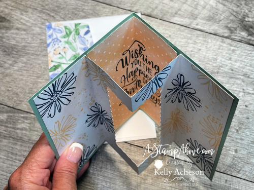2 Fun Folds! Click for details (In Symmetry & Color & Contour by Stampin' Up!) Tunnel Card www.AStampAbove.com