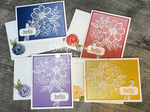 Learn how easy these summer cards are to make with the ARTISTIC DIES and OMBRE SPECIALTY PAPER by Stampin' Up! Click for a video tutorial. www.AStamp.Above.com