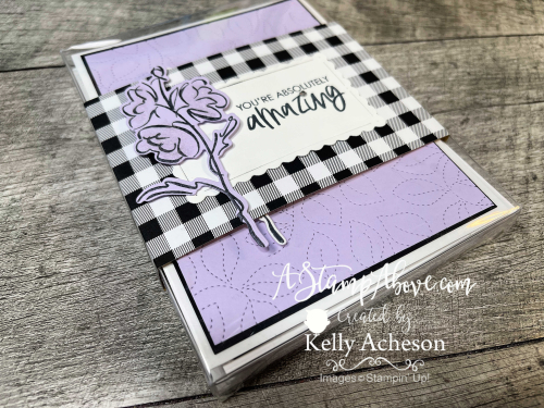 Learn how to make this easy band for a gift box. Color & Contour by Stampin' Up! www.AStampAbove.com