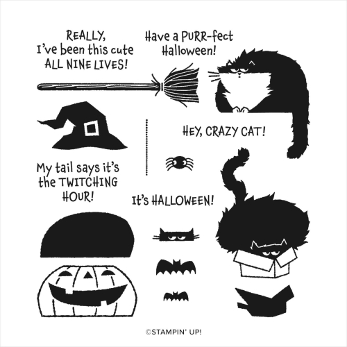 Clever Cats for Halloween! Video tutorial when you click. www.AStampAbove.com