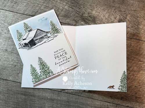Make this amazing card with PEACEFUL CABIN - it's a must have! Video tutorial available. www.AStampAbove.com