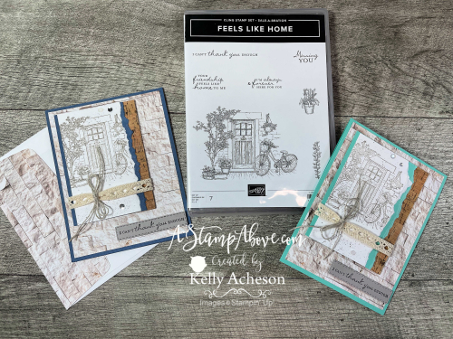 Feels Like Home - get it FREE with a $50 order - video tutorial - www.AStampAbove.com