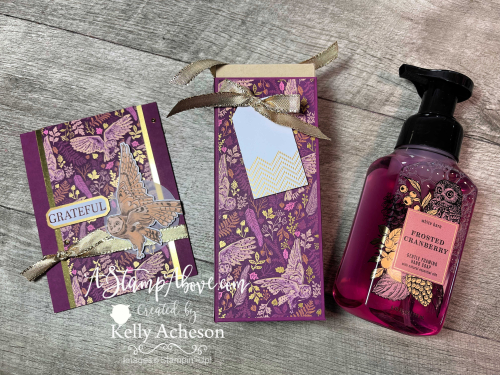Learn how to make this fabulous Bath & Body Soap box and matching card - VIDEO TUTORIAL - www.AStampAbove.com Beauty of Tomorrow by Stampin' Up!