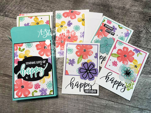 Learn how to make this adorable box to fit the NOTE CARDS & ENVELOPES with the PRETTY PERENNIALS BUNDLE by Stampin' Up! www.AStampAbove.com