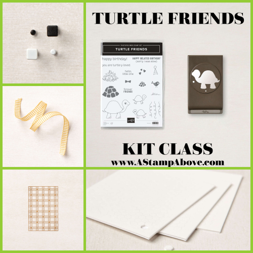 VIDEO TUTORIAL Learn all about my KIT CLASS and enjoy a video for a fun fold that will knock your socks off! Click for details - Turtle Friends. www.AStampAbove.com