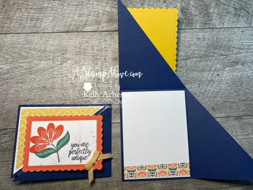 2 Fun Folds! Click for details (In Symmetry & Color & Contour by Stampin' Up!) Diagonal Gatefold www.AStampAbove.com