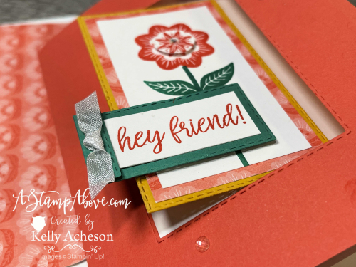 Learn how to make this INTERLOCKING FUN FOLD! VIDEO TUTORIAL: Get all the details for a KIT mailed right to you using the IN SYMMETRY suite by Stampin' Up! www.AStampAbove.com