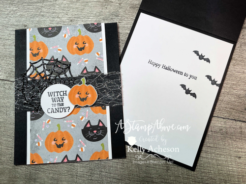 VIDEO TUTORIAL - Learn how to make this adorable Halloween card with Frightfully Cute & Cute Halloween bundles. www.AStampAbove.com