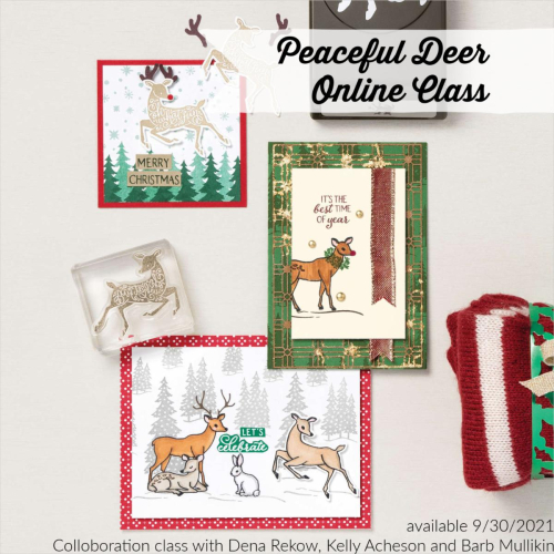 Peaceful Deer Online Class available! www.AStampAbove.com