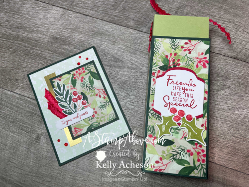 Learn how to make this fabulous Bath & Body Soap box and matching card - VIDEO TUTORIAL - www.AStampAbove.com Christmas Season by Stampin' Up!